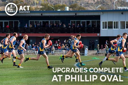 Upgrade to Phillip precinct oval